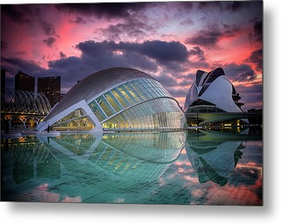 Modern Architecture In Valencia  Metal Print