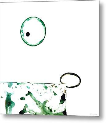 Modern Art - Balancing Act 1 - Sharon Cummings Metal Print