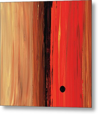 Metal Print featuring the painting Modern Art - The Power Of One Panel 1 - Sharon Cummings by Sharon Cummings