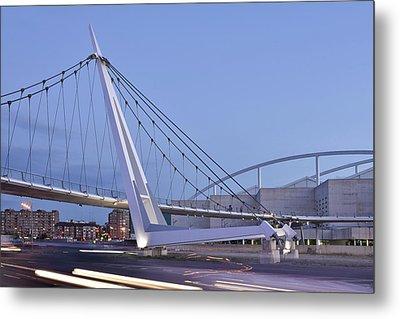 Modern Bridge Zaragoza Delicias Metal Print by Marek Stepan