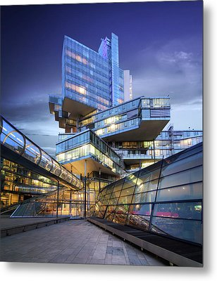 Modern City Lights Metal Print