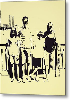 Modern Day Single Mom Family Vacation  Metal Print by Sheri Buchheit