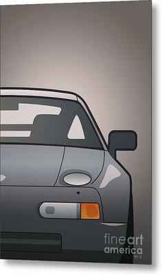 Modern Euro Icons Series Porsche 928 Gts Split Metal Print by Monkey Crisis On Mars