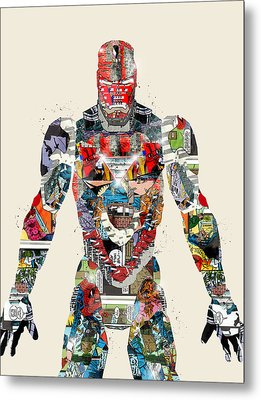 Modern Ironman Metal Print by Bri B