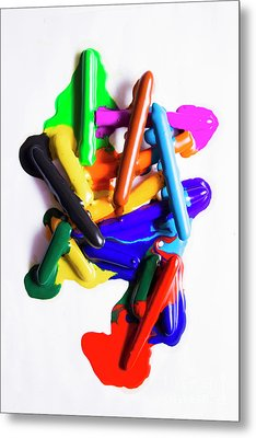 Modern Rainbow Art Metal Print