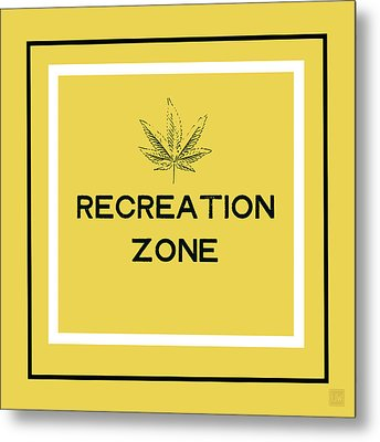 Metal Print featuring the mixed media Modern Recreation Zone Sign- Art By Linda Woods by Linda Woods