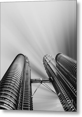 Modern Skyscraper Black And White  Metal Print by Stefano Senise