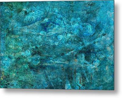Modern Turquoise Art - Deep Mystery - Sharon Cummings Metal Print by Sharon Cummings