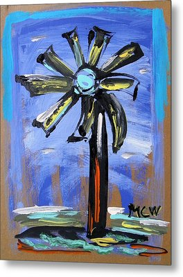 Metal Print featuring the painting Modern Wind Power by Mary Carol Williams