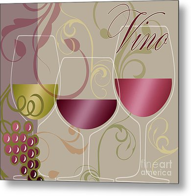 Modern Wine I Metal Print by Mindy Sommers