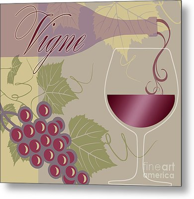 Modern Wine II Metal Print