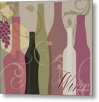 Modern Wine IIi Metal Print by Mindy Sommers