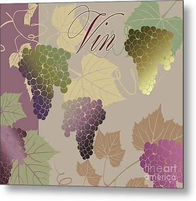 Modern Wine Iv Metal Print by Mindy Sommers