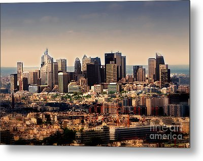 Modernity In Paris Metal Print by Alessandro Giorgi Art Photography