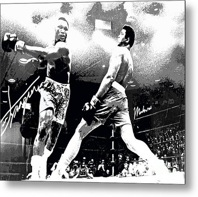 Mohamed Ali Float Like A Butterfly Metal Print by Saundra Myles