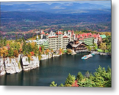 Mohonk Mountain House Metal Print by June Marie Sobrito
