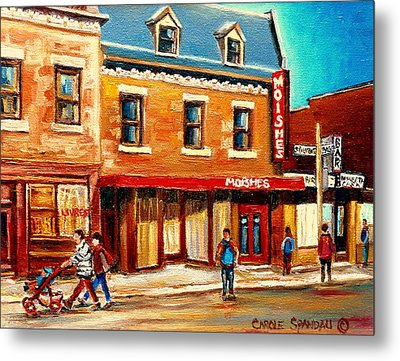 Moishes The Place For Steaks Metal Print by Carole Spandau