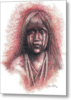 Mojave Girl Metal Print by Lawrence Tripoli