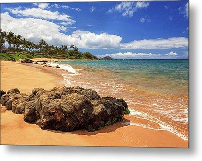 Mokapu Beach Maui Metal Print by James Eddy