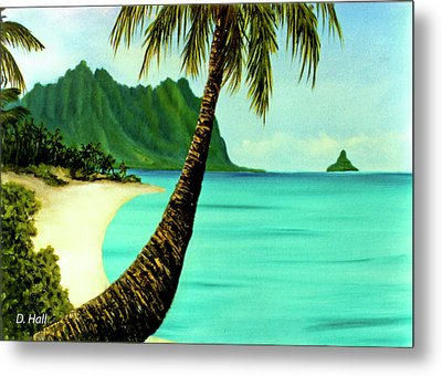 Mokolii Chinamans Hat Koolau Mountains #81 Metal Print by Donald k Hall