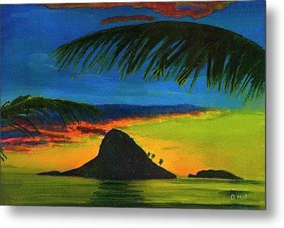 Mokolii Sunset #80  Metal Print by Donald k Hall