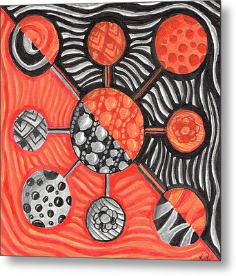 Molecular Confusion Metal Print by Kitty Perkins