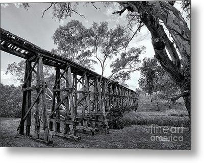 Metal Print featuring the photograph Mollisons Creek Trestle Bridge by Linda Lees