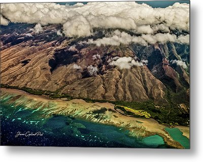 Metal Print featuring the photograph Molokai From The Sky by Joann Copeland-Paul