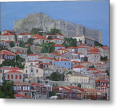 Metal Print featuring the painting Molyvos II by Eric Kempson