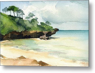 Mombasa Beach Metal Print by Stephanie Aarons