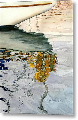 Moment Of Reflection Ix Metal Print by Marguerite Chadwick-Juner
