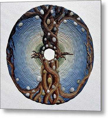 Momentary Node Of Connection - Tears Of Stone Metal Print by Arla Patch