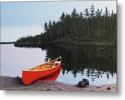 Moments Of Peace Metal Print by Kenneth M  Kirsch