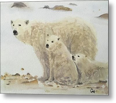 Mommy Bear Metal Print