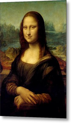 Mona Lisa - By Leonardo Da Vinci Metal Print by War Is Hell Store