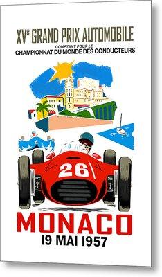Monaco 1957 Metal Print by Mark Rogan