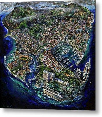 Monaco Metal Print by Antonio Ortiz