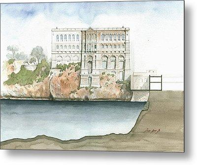 Monaco Oceanographic Museum Metal Print by Juan Bosco