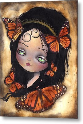 Monarca Metal Print by  Abril Andrade Griffith