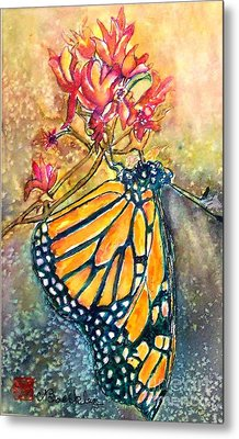 Monarch In The Morning Metal Print by Norma Boeckler