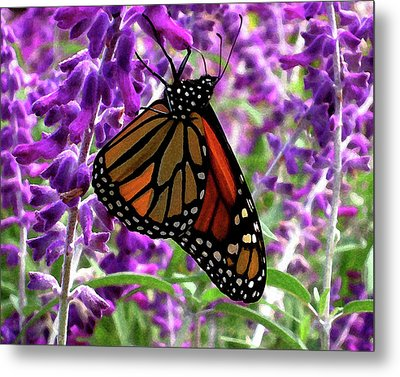 Metal Print featuring the digital art Monarch by Timothy Bulone