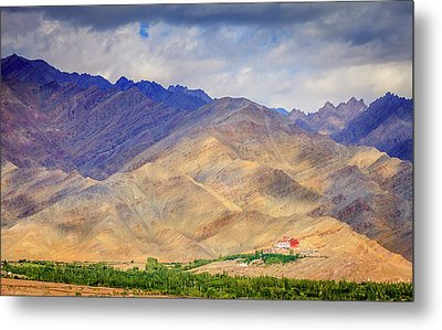 Metal Print featuring the photograph Monastery In The Mountains by Alexey Stiop