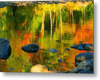 Monet Autumnal Metal Print by Aimelle