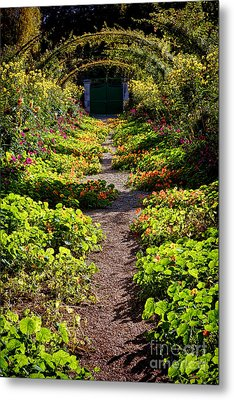 Monet Garden Path  Metal Print