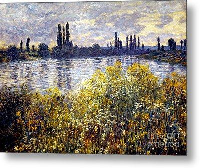 Monet: Seine/vetheil, 1880 Metal Print by Granger
