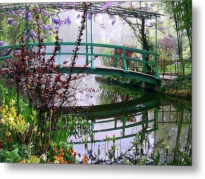 Monet's Bridge Metal Print by Jim Hill