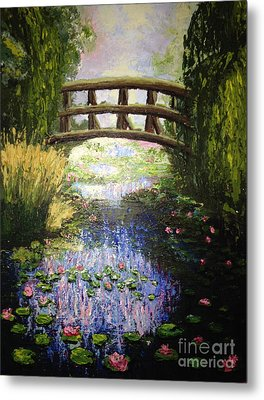 Monet's Bridge Metal Print