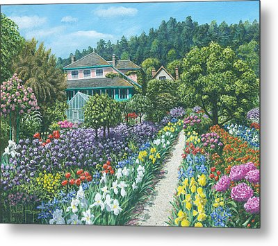 Monet's Garden Giverny Metal Print by Richard Harpum