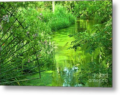 Monet's Green Garden Metal Print