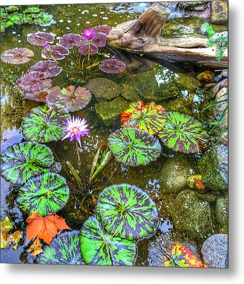 Monet's Pond At The Fair Metal Print